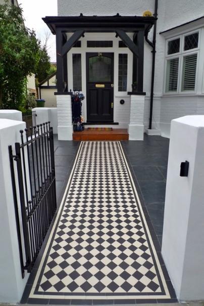 Fulham Victorian Mosaic Landscape Garden Design Chelsea